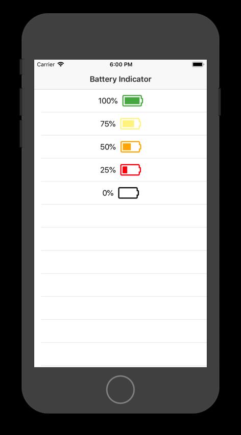 Battery Indicator Screenshot